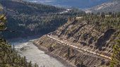 Long Trains Labring through the Fraser Canyon