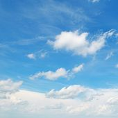 White Clouds On A Blue Sky Background