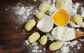traditional Italian gnocchi prepared with potatoes and eggs