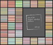 Set of 30 striped seamless patterns.