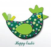 Easter card with hen