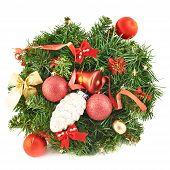 Wreath fir-tree branch decoration