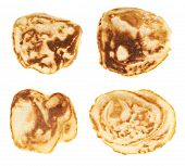 Small pancakes isolated