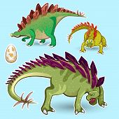 Stegosaurus Dinosaurs Sticker Collection Set