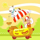 Hot dogs humorous vector