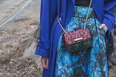 Detail Of Bag Outside Gucci Fashion Show Building For Milan Women's Fashion Week 2015
