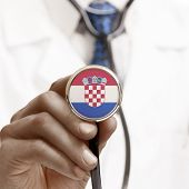 Stethoscope With National Flag Conceptual Series - Croatia