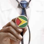 Stethoscope With National Flag Conceptual Series - Guyana