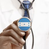 Stethoscope With National Flag Conceptual Series - Honduras