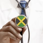 Stethoscope With National Flag Conceptual Series - Jamaica