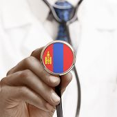 Stethoscope With National Flag Conceptual Series - Mongolia