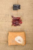 Meju And Basic Ingredients To Make Doenjang