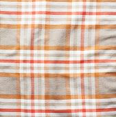 Squared striped shirt material fragment