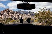 Car and desert