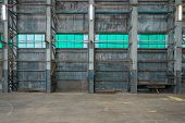 Corrugated Iron Wall In A Warehouse
