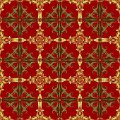 Seamless Model of bright Oriental pattern. Vector ornament.