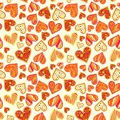 Seamless Pattern With Hearts.