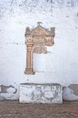 Remains of a side altar in a ruined monastery