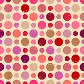 Seamless Pattern With Grunge Dots.