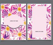 two cards with pink flowers
