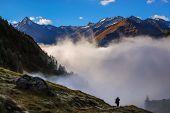 Alps Over The Fog.