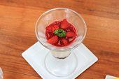 pic of yogurt  - Fruit yogurt cake Cream and yogurt stawberries - JPG