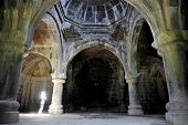 image of armenia  - Architecture shot with the interior of ancient orthodox Haghpat monastery in Armenia - JPG