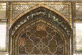 image of tehran  - decorated window in the 19th century Golestan palace in Tehran - JPG