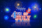 stock photo of happy day  - vector illustration of background for Fourth of July American Independence Day - JPG