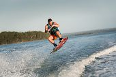 picture of watersports  - Wakeboarder Getting Air - JPG