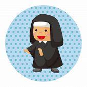 image of nun  - Pastor And Nun Theme Elements - JPG