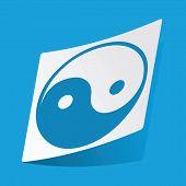stock photo of yang  - Sticker with yin yang symbol - JPG