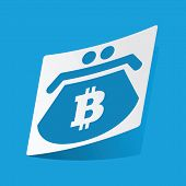 picture of bitcoin  - Sticker with bitcoin purse icon - JPG