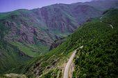 foto of armenia  - Photo of the  Summer mountain serpentine road - JPG