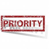 stock photo of priorities  - Outlined red stamp with word PRIORITY - JPG