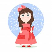 pic of hair bow  - Illustration in cartoon style  - JPG