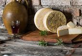 stock photo of french culture  - Still life with french goat cheese - JPG