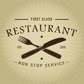 picture of first class  - Vintage Retro First Class Restaurant Seal - JPG
