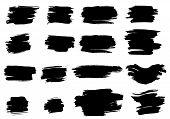 pic of mud pack  - Set of grunge ink vector elements - JPG