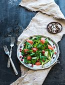 picture of spring lambs  - Spring salad with lamb - JPG