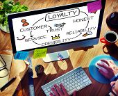 stock photo of loyalty  - Loyalty Customer Service Trust Honest Reliability Concept - JPG