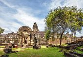 image of buddhist  - Ancient buddhist khmer temple in Angkor Wat complex - JPG