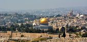 pic of israel people  - Panoramic landscape view of Jerusalem and The Dome of the Rock on the Temple Mount from Mount Scopus in Jeruslem Israel - JPG