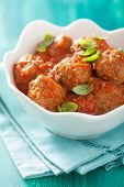 image of meatball  - meatballs with tomato sauce in bowl - JPG
