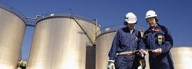 pic of refinery  - refinery workers - JPG