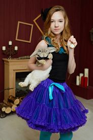 foto of alice wonderland  - Young girl at the image of Alice in Wonderland - JPG