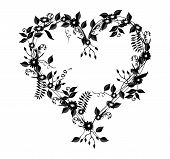 Vine And Floral  Heart