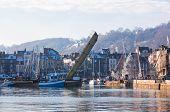 Honfleur Harbour In Normandy, France