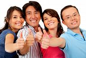 foto of hands up  - Group of friends with thumbs up  - JPG