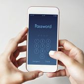 Access Identification Password Passcode Graphic Concept poster